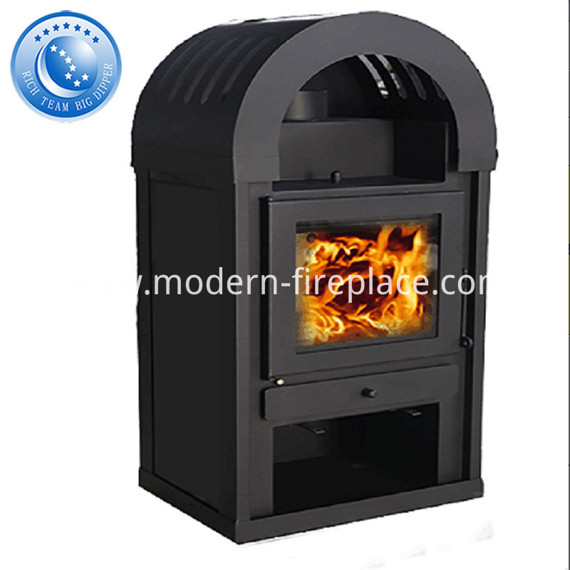 Steel Plate Wood Coal Burning Stove With Oven